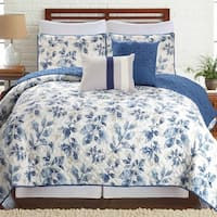 Amrapur Overseas Venetian Leaves 5-piece Printed Reversible Quilt Set