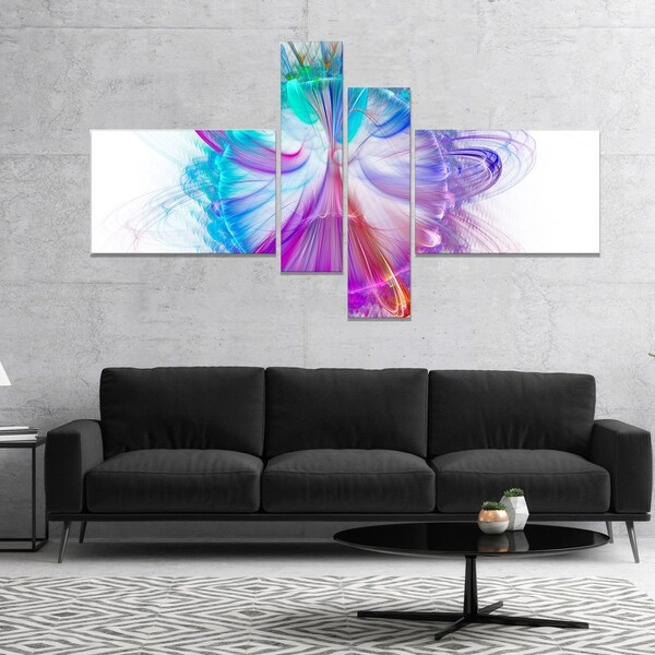 Designart 'Vortices of Energy Fractal Pattern' Abstract Wall Art Canvas