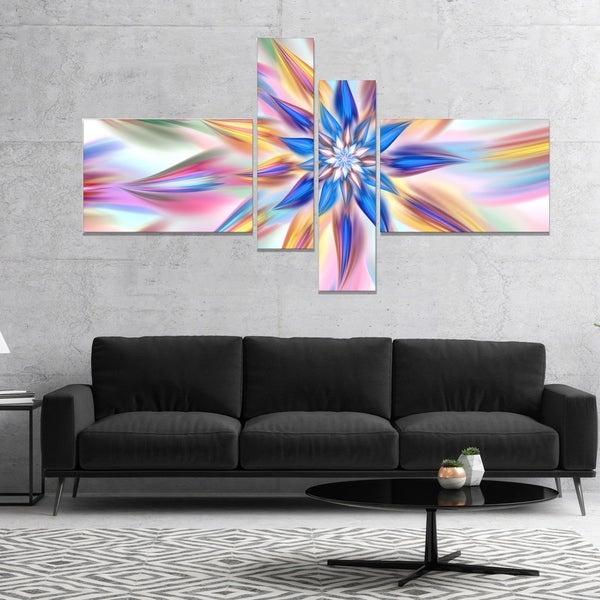 Designart 'Exotic Dance of Multi Color Petals' Floral Canvas Art Print