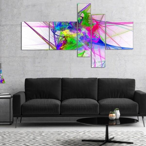 Designart 'Glowing Ball of Smoke' Abstract Canvas art print