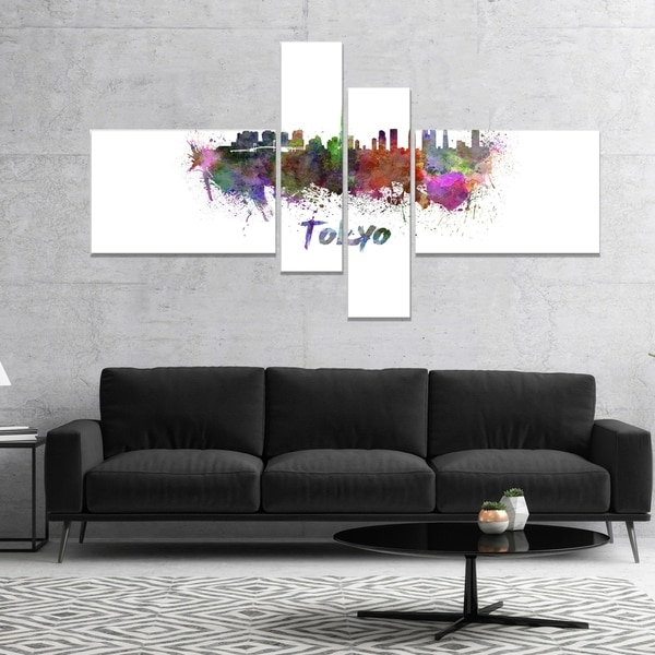 Designart 'Tokyo Skyline' Cityscape Canvas Artwork Print