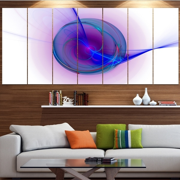 Designart 'Abstract Blue Fractal Design' Abstract Artwork on Canvas