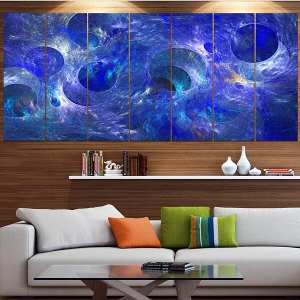 Designart 'Clear Blue Fractal Glass Texture' Abstract Artwork on Canvas