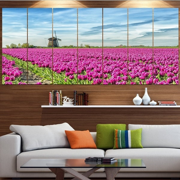 Designart 'Traditional Holland Countryside' Landscape Wall Art on Canvas