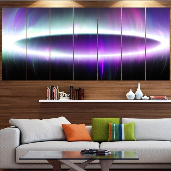Designart 'Beautiful Purple Northern Lights' Abstract Wall Art on Canvas