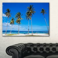 Bright and Clear Tropical Beach - Extra Large Seascape Art Canvas