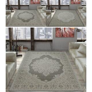 Ottomanson Jardin Oriental Design Indoor/Outdoor Jute Backing Runner Rug - 5'3 x 7'3