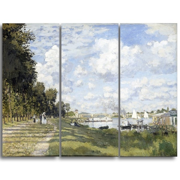 Design Art 'Claude Monet - Bassin d'Argenteuil' Landscape Canvas Arwork