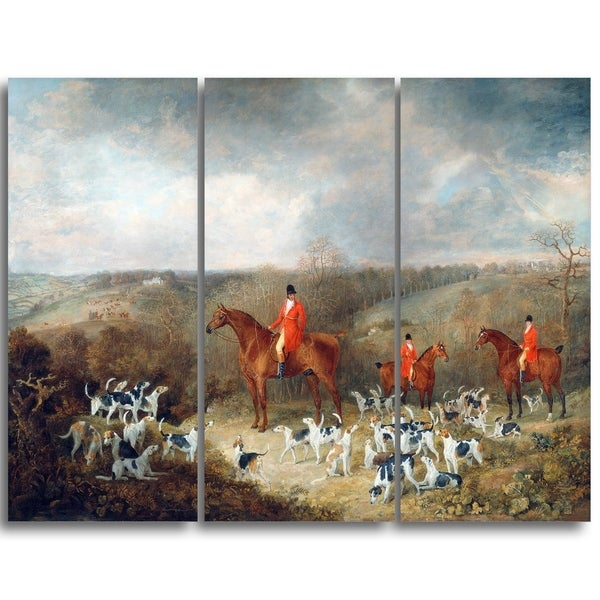 Design Art 'Dean Wolstenholme - Lord Glamis and his Staghounds' Landscape Canvas Art Print
