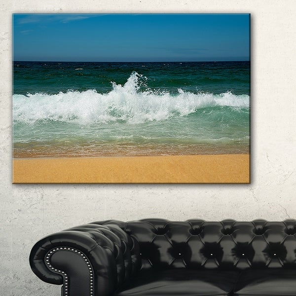 Beautiful Atlantic Beach Portugal - Contemporary Seascape Art Canvas