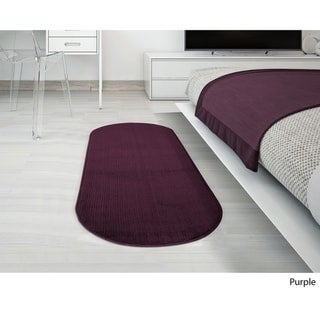 """Ottomanson Softy Collection Solid Color Kitchen/Bathroom Oval Runner Rug (20"""" x 59"""")"""