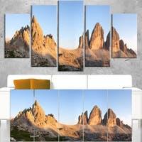 Tre Cime and Monte Paterno at Sunset - Landscape Art Canvas Print