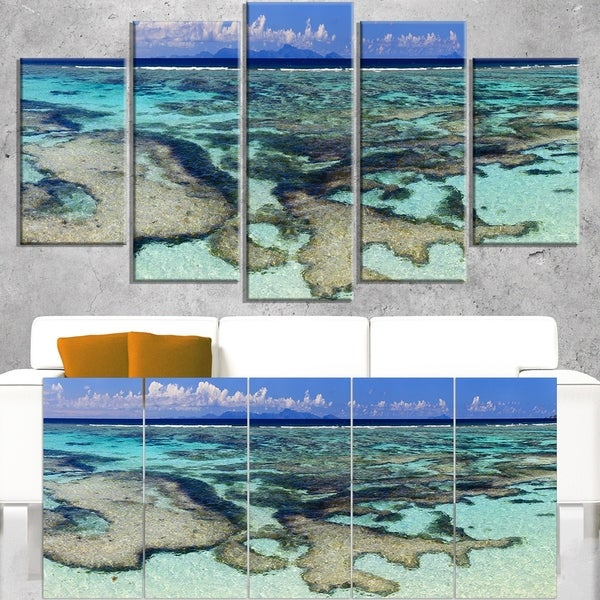Turquoise Tropical Ocean Waters - Modern Seascape Canvas Artwork