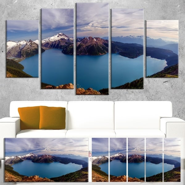 Designart 'Clear Lake with Bright Sky' Extra Large Landscape Art Canvas