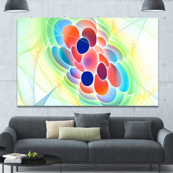 Designart 'Fractal Virus under Microscope' Extra Large Abstract Canvas Art Print Canvas 33003803