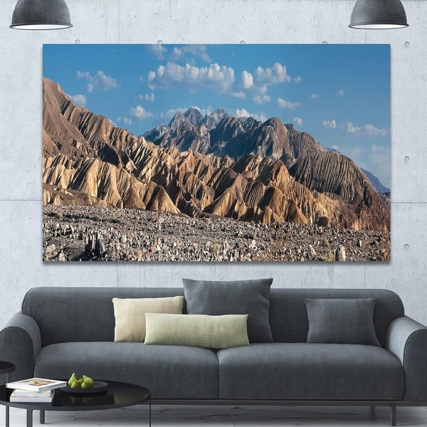 Designart 'Beautiful Hills in Death Valley' Abstract Wall Art on Canvas