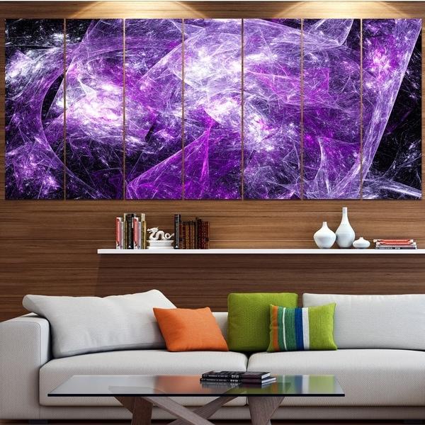 Designart 'Mystic Purple Fractal Wallpaper' Abstract Wall Art Canvas