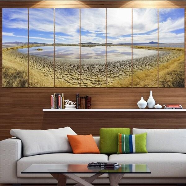 Designart 'Beautiful Grimshaw Lake' Modern Landscpae Wall Art