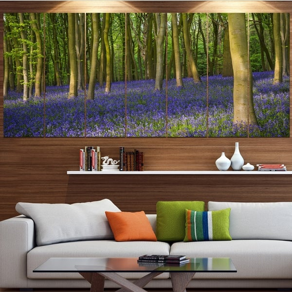 Designart 'Bluebell Woods in Oxfordshire' Landscape Wall Artwork on Canvas