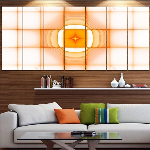Designart 'Yellow Thermal Infrared Visor' Abstract Wall Art on Canvas