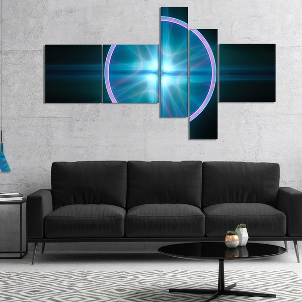 Designart 'Blue Sphere of Cosmic Mind' Abstract Canvas Art Print