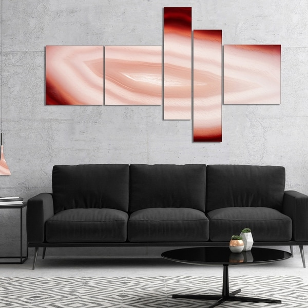 Designart 'Agate with Chalcedony Geological Crystal' Large Abstract Canvas Artwork