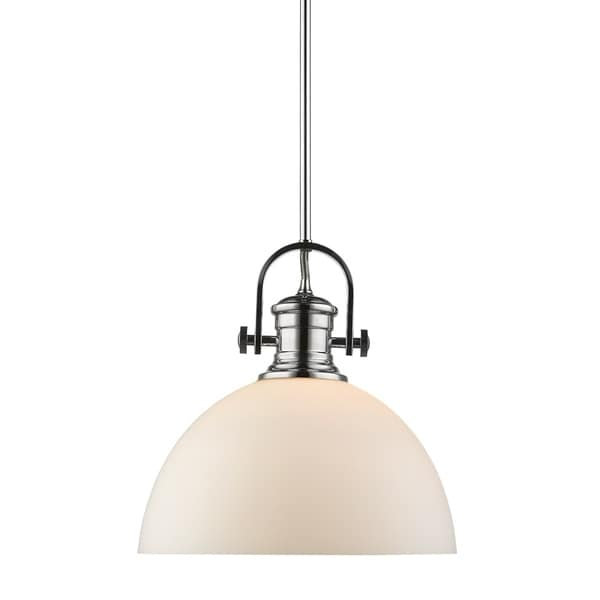 Golden Lighting's Hines 1 Light Pendant #3118-L CH-OP