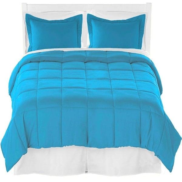 Comforter Set + Sheet Set + Bed Skirt - Premium Ultra-Soft Brushed Microfiber