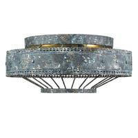 Golden Lighting's Ferris 2-light Flush Mount