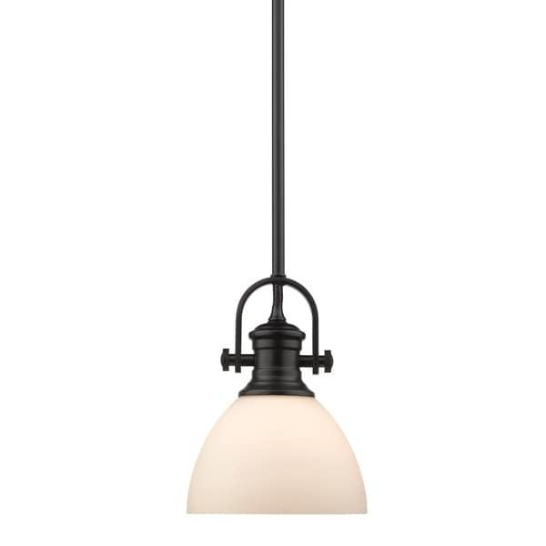 Golden Lighting's Hines Mini Pendant #3118-M1L BLK-OP