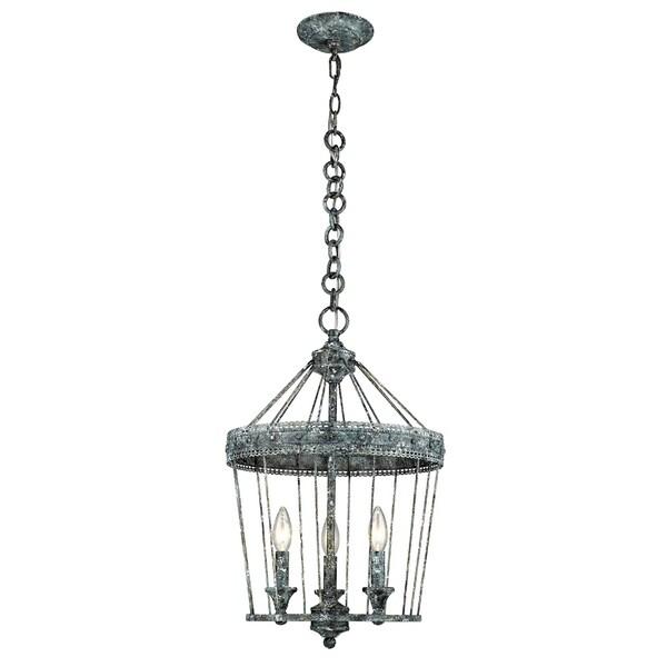 Golden Lighting's Ferris 3 Light Chandelier #7856-3P VP