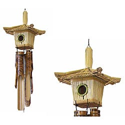 Handcrafted Small Birdhouse Wind Chime (Indonesia)