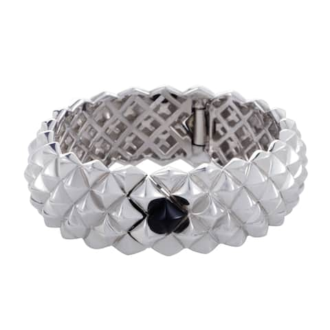 Stephen Webster Womens Silver and Onyx Bangle Bracelet