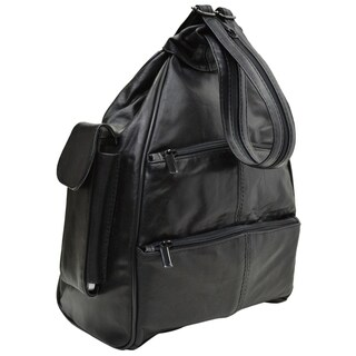 AFONIE Sling Multi Pockets Lather Backpack