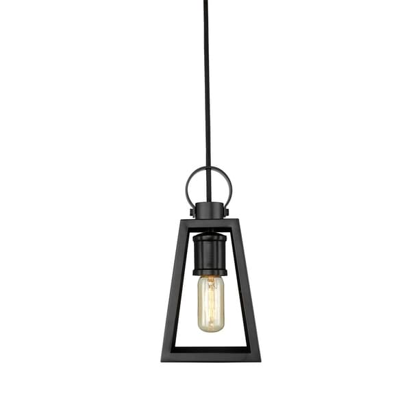 Golden Lighting's Abbott Small Pendant #3239-S BLK-BLK