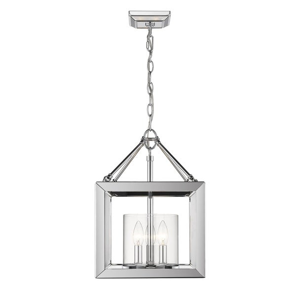 Golden Lighting's Smyth Convertible Semi-Flush (Chrome & Clear glass) #2074-SF CH-CLR