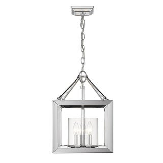 Golden Lighting's Smyth Convertible Semi-Flush (Chrome & Clear glass) #2074-SF CH-CLR - Silver