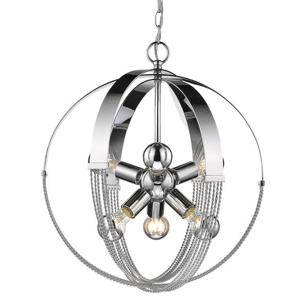 Golden Lighting's Carter 6 Light Pendant #7001-6P CH