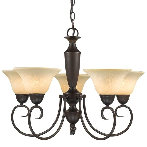 Golden Lighting's Centennial 5 Light Chandelier #1395 RBZ-TEA