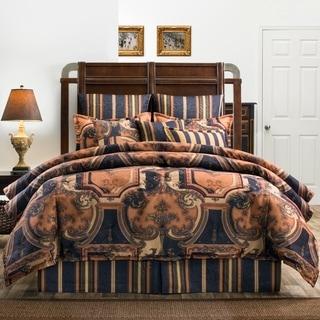 Cordoba Jacquard Damask Deep Navy Comforter Set