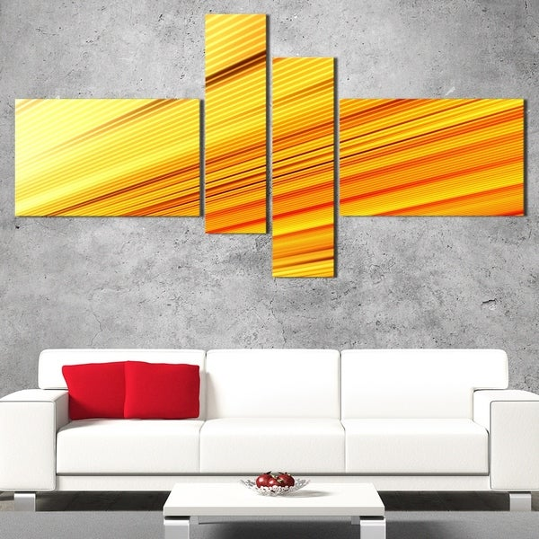 DesignArt 'Gold and Silver Reflection' Contemporary Canvas Art