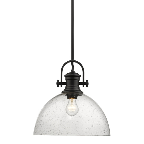Golden Lighting's Hines 1 Light Pendant #3118-L BLK-SD