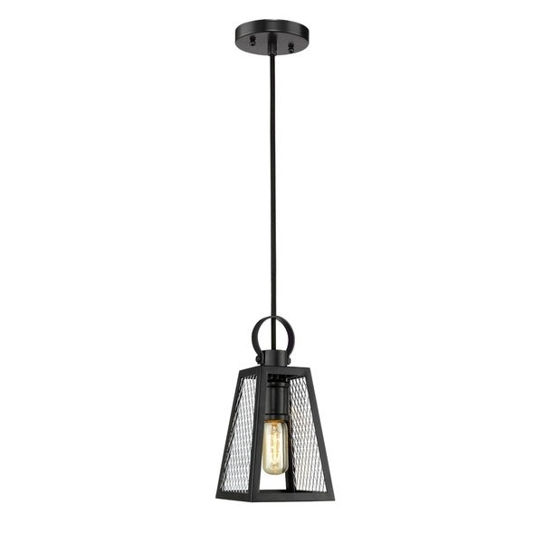 Golden Lighting's Abbott Small Pendant #3239-S BLK-CH