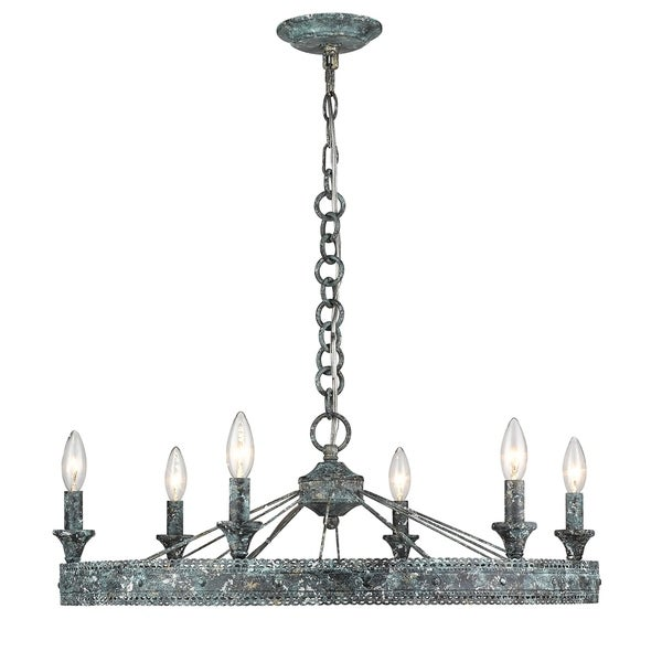 Golden Lighting's Ferris 6 Light Chandelier #7856-6 VP