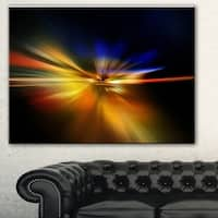 Designart 'Explosion of Light in Black' Abstract Digital Art Canvas Print