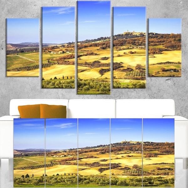 Pienza Medieval Village Italy - Oversized Landscape Wall Art Print ...