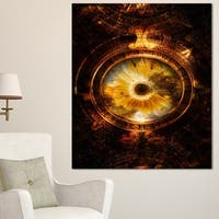 Designart 'Ancient Mayan Calendar Collage' Abstract Wall Art Print on Canvas