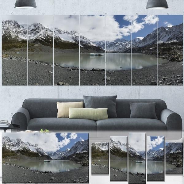 Designart 'New Zealand Mountains Panorama' Large Landscape Canvas Art