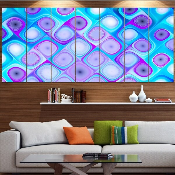 Designart 'Blue Purple Pattern with Swirls' Abstract Wall Art Canvas
