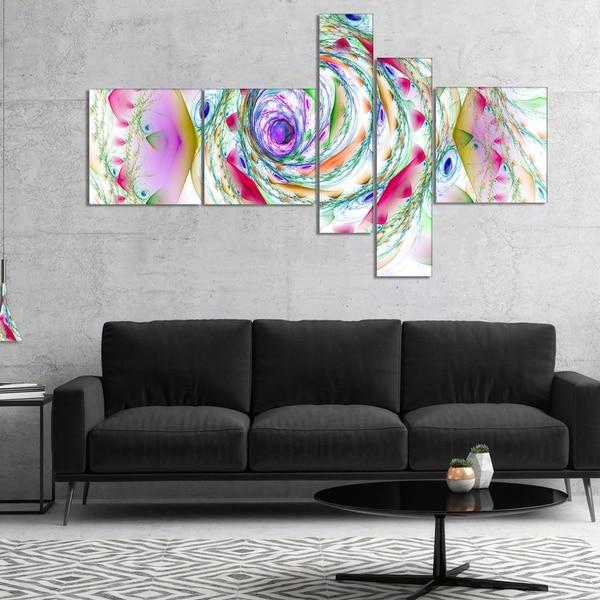 Designart 'Multi Color Exotic Flower Whirlpool' Floral Canvas Art Print